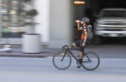 common car-hits-bike scenario
