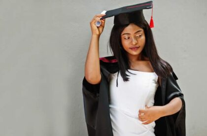 wearing your graduation gown